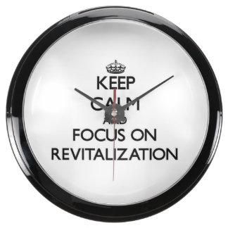 Guarde la calma y el foco en la revitalización relojes aquavista