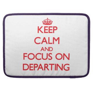 Guarde la calma y el foco en la salida fundas para macbook pro
