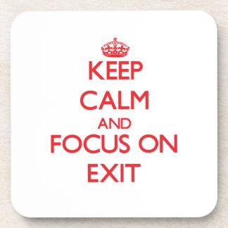 Guarde la calma y el foco en la salida