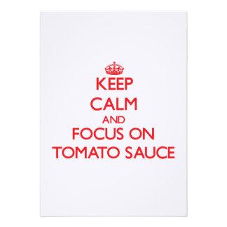 Guarde la calma y el foco en la salsa de tomate anuncios