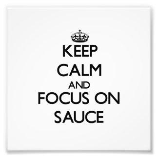 Guarde la calma y el foco en la salsa arte fotografico