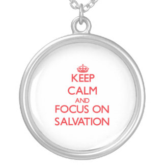Guarde la calma y el foco en la salvación grimpola
