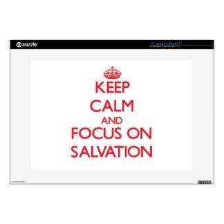 Guarde la calma y el foco en la salvación skins para 38,1cm portátiles