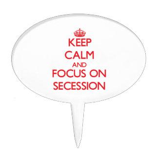 Guarde la calma y el foco en la secesión figuras para tartas