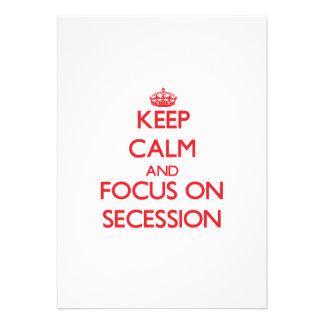 Guarde la calma y el foco en la secesión invitacion personal