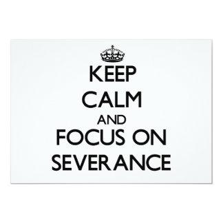 Guarde la calma y el foco en la separación comunicados personalizados