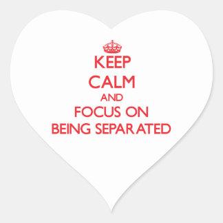 Guarde la calma y el foco en la separación colcomanias de corazon personalizadas
