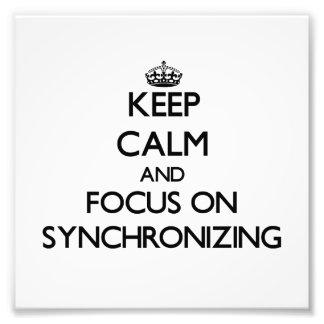 Guarde la calma y el foco en la sincronización