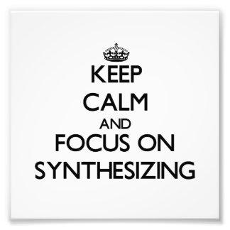 Guarde la calma y el foco en la sintetización