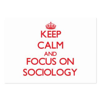 Guarde la calma y el foco en la sociología