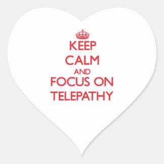 Guarde la calma y el foco en la telepatía
