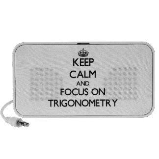 Guarde la calma y el foco en la trigonometría sistema altavoz