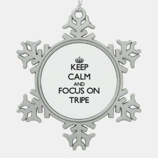 Guarde la calma y el foco en la tripa adornos