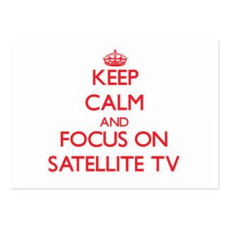 Guarde la calma y el foco en la TV vía satélite Tarjetas De Visita