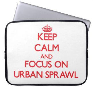 Guarde la calma y el foco en la urbanización funda ordendadores
