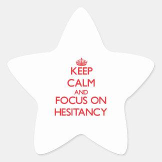 Guarde la calma y el foco en la vacilación calcomanías forma de estrellas personalizadas