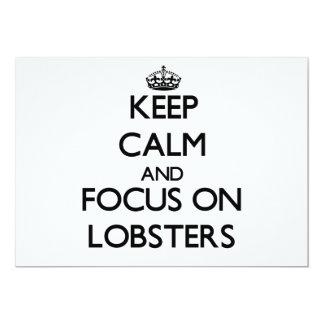 Guarde la calma y el foco en langostas comunicado personalizado