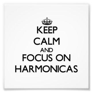 Guarde la calma y el foco en las armónicas