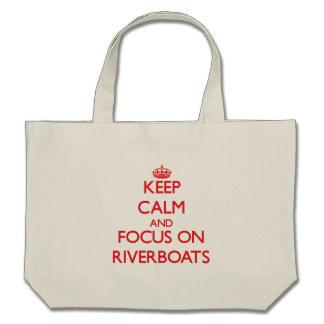 Guarde la calma y el foco en las barcas bolsas de mano