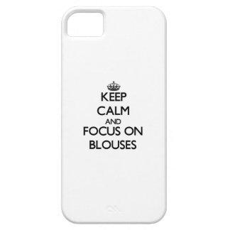 Guarde la calma y el foco en las blusas iPhone 5 cobertura