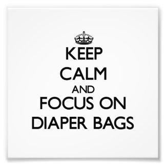 Guarde la calma y el foco en las bolsas de pañales