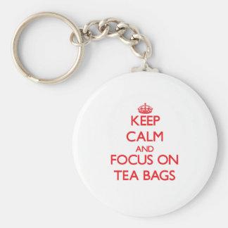 Guarde la calma y el foco en las bolsitas de té llavero