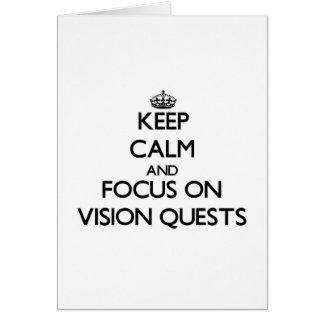 Guarde la calma y el foco en las búsquedas de Visi