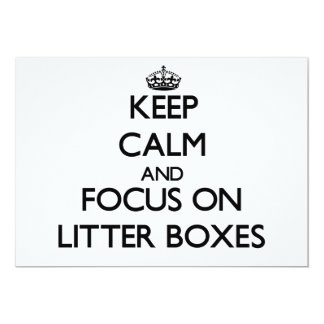 Guarde la calma y el foco en las cajas de arena invitaciones personales