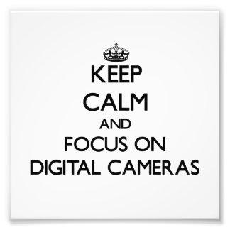 Guarde la calma y el foco en las cámaras digitales fotografía