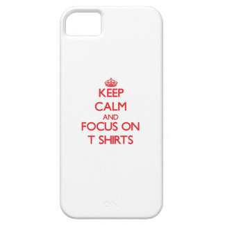 Guarde la calma y el foco en las camisetas iPhone 5 Case-Mate fundas