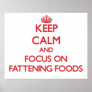Guarde la calma y el foco en las comidas de la ceb impresiones