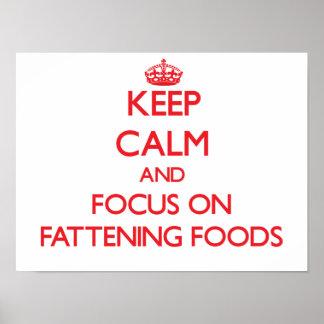 Guarde la calma y el foco en las comidas de la ceb posters