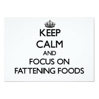 Guarde la calma y el foco en las comidas de la invitaciones personales