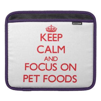 Guarde la calma y el foco en las comidas de mascot manga de iPad