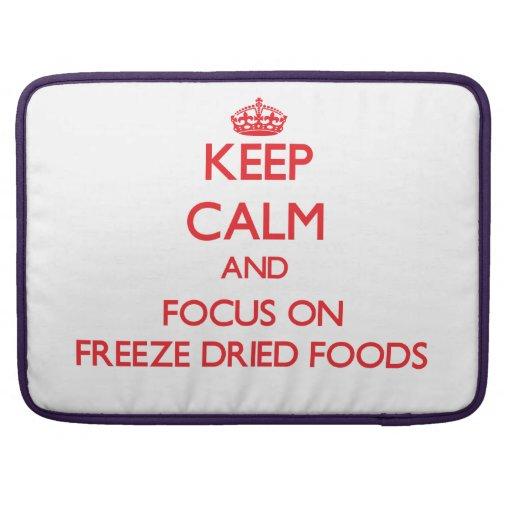 Guarde la calma y el foco en las comidas Freeze-dr Funda Macbook Pro