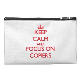 Guarde la calma y el foco en las copiadoras