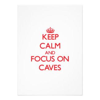 Guarde la calma y el foco en las cuevas