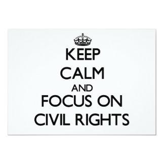 Guarde la calma y el foco en las derechas civiles invitación personalizada