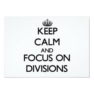 Guarde la calma y el foco en las divisiones comunicado personalizado
