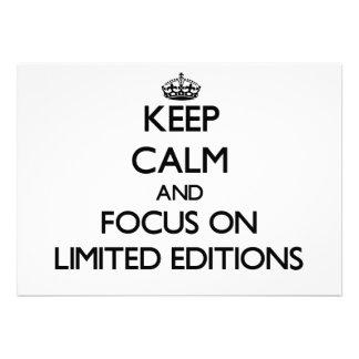 Guarde la calma y el foco en las ediciones limitad invitación personalizada