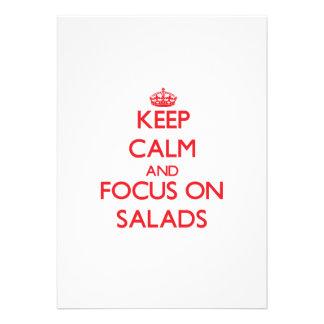 Guarde la calma y el foco en las ensaladas invitacion personalizada
