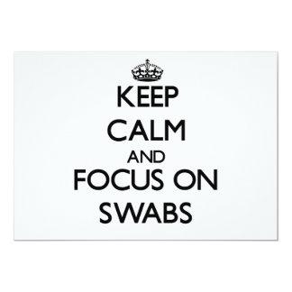 Guarde la calma y el foco en las esponjas comunicados