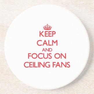 Guarde la calma y el foco en las fans de techo