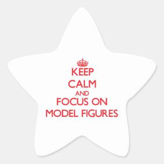 Guarde la calma y el foco en las figuras modelo calcomania cuadrada personalizada