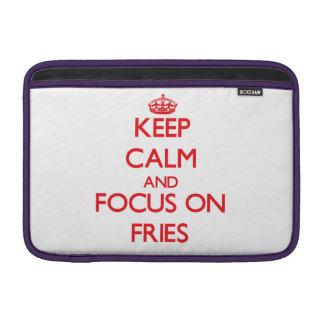 Guarde la calma y el foco en las fritadas funda  MacBook