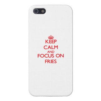 Guarde la calma y el foco en las fritadas iPhone 5 cárcasa