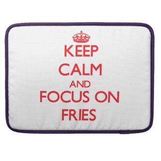 Guarde la calma y el foco en las fritadas fundas macbook pro