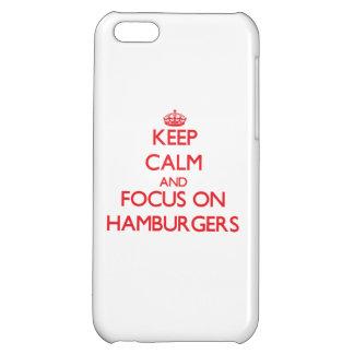 Guarde la calma y el foco en las hamburguesas