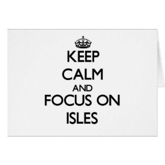 Guarde la calma y el foco en las islas tarjeta pequeña
