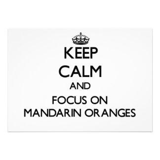 Guarde la calma y el foco en las mandarinas comunicado personalizado